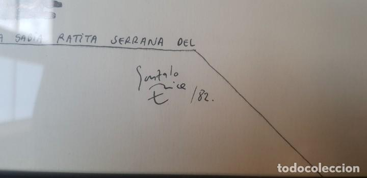 Arte: Ilustracion Ratita Serrana dedicada de Gonzalo Erice 1982 - Foto 2 - 204407445