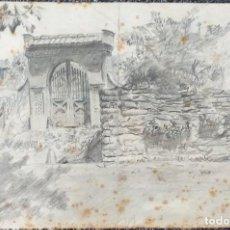 Arte: EUSEBIO BOSCH BIERGE - DIBUJO FIRMADO SOBRE PAPEL - MASIA CATALANA - CIRCA 1940. Lote 204450736
