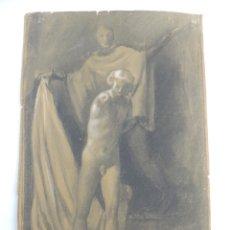 Arte: MAGNIFICA PINTURA O DIBUJO FIRMADO AÑO 1965 OBJETO DE DECORACION. Lote 204599136
