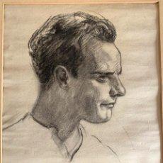Arte: JOSÉ MONGRELL TORRENT (1870-1937) RETRATO. DIBUJO AL CARBÓN SOBRE PAPEL. Lote 204691435