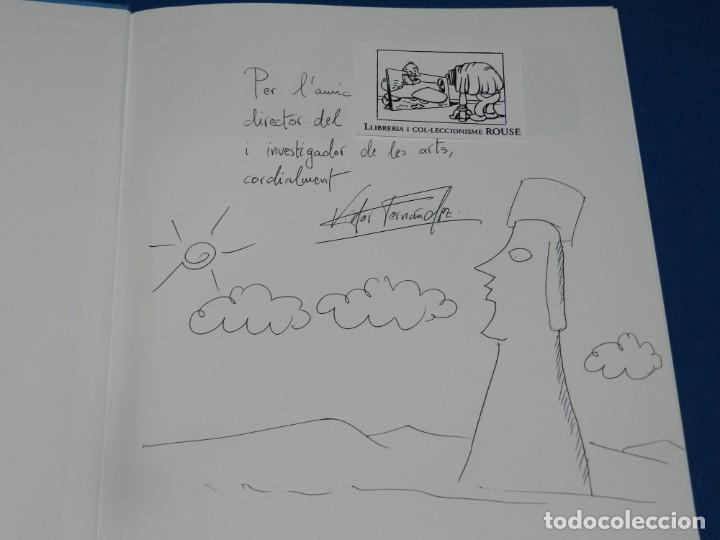 (MF) VISTOR FERNANDEZ - JOAN ABELLO DE PINCELES Y MOAIS, DIBUJO ORIGINAL DE JOAN ABELLO (Arte - Dibujos - Contemporáneos siglo XX)