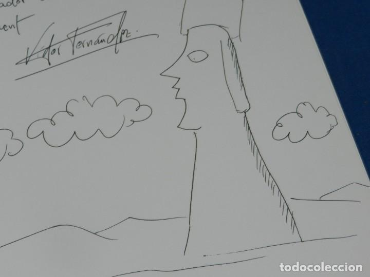 Arte: (MF) VISTOR FERNANDEZ - JOAN ABELLO DE PINCELES Y MOAIS, DIBUJO ORIGINAL DE JOAN ABELLO - Foto 3 - 204787328
