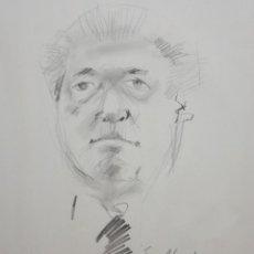 Arte: JOAN GRANADOS LLIMONA (BARCELONA, 1931 - 2005) DIBUJO A LAPIZ. RETRATO DEL SR. MACIA ALAVEDRA. Lote 204842895