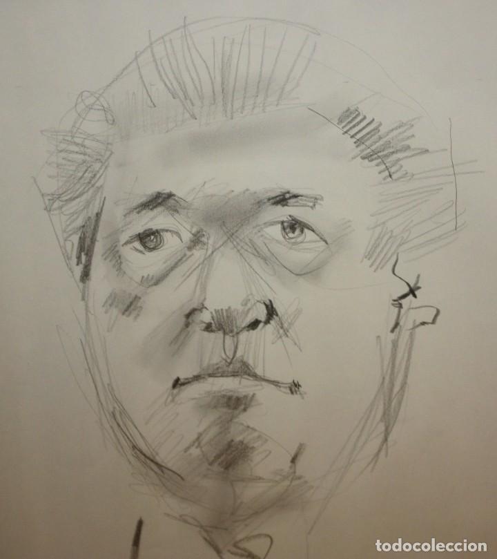 Arte: JOAN GRANADOS LLIMONA (Barcelona, 1931 - 2005) DIBUJO A LAPIZ. RETRATO DEL SR. MACIA ALAVEDRA - Foto 3 - 204842895