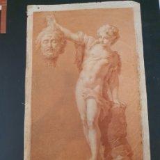Arte: DAVID Y GOLIAT. DIBUJO S. XVIII. CIRCULO RAFAEL ESTEVE. ORIGINAL. Lote 205081076