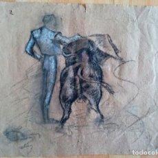 Arte: ANTIGUO APUNTE TAURINO DE MEDIADOS DEL SIGLO XX. Lote 205109651