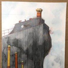 Art: DIBUJO ORIGINAL TINTA ACUARELADA DEL ILUSTRADOR DONOSTIARRA JUAN CARLOS EGUILLOR. C. 1990. Lote 205136266