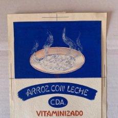 Arte: ORIGINAL PUBLICIDAD ARROZ CON LECHE VITAMINIZADO C.D.A. DE ELFI OSIANDER. FIRMADO. Lote 205306022