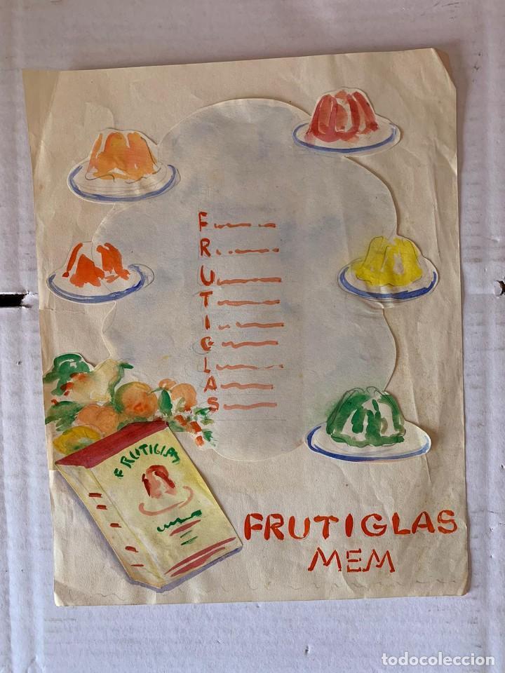 ORIGINAL PUBLICIDAD FRUTIGLAS M.E.M ZARAGOZA DE ELFI OSIANDER (Arte - Dibujos - Contemporáneos siglo XX)