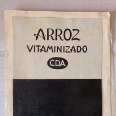 Arte: ORIGINAL PUBLICIDAD ARROZ VITAMINIZADO C.D.A. DE ELFI OSIANDER. Lote 205307757