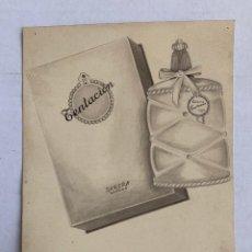 Arte: ORIGINAL PUBLICIDAD COLONIA TENTACION. PARERA DE ELFI OSIANDER. Lote 205308372