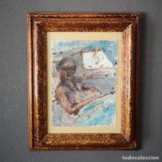 Arte: TECNICA MIXTA SOBRE PAPEL TITULADO EN EL COCHE PILAR BAMBA 2007 CON CERTIFICADO. Lote 205438580