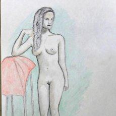Arte: DESNUDO DE PIE OBRA DE GILABERTE. Lote 205595492