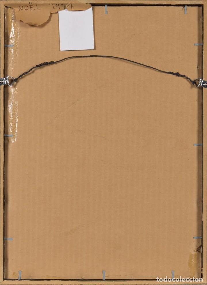 Arte: LUIS FEITO Obra Original y Única Collage Firmado Noel 1974 Enmarcado - Foto 3 - 205681756