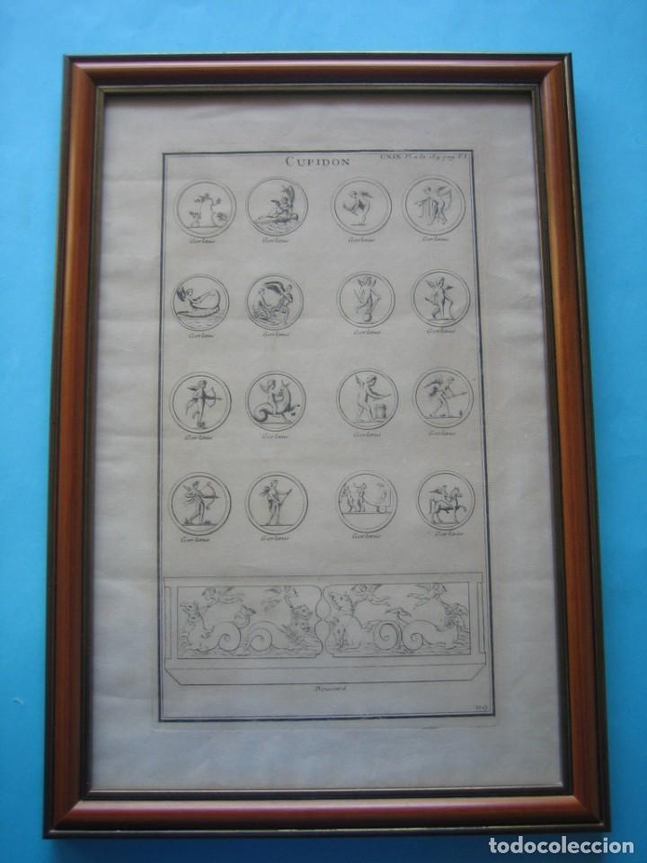GRABADO SIGLO XVIII - CUPIDON - GORLAEUS - BOISSARD - PLANCHA 119 - OBRA FRANCESA DE 1722 - VER (Arte - Dibujos - Antiguos hasta el siglo XVIII)