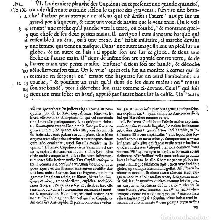 Arte: GRABADO SIGLO XVIII - CUPIDON - GORLAEUS - BOISSARD - PLANCHA 119 - OBRA FRANCESA DE 1722 - VER - Foto 7 - 205723407