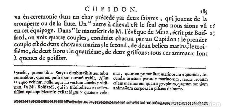 Arte: GRABADO SIGLO XVIII - CUPIDON - GORLAEUS - BOISSARD - PLANCHA 119 - OBRA FRANCESA DE 1722 - VER - Foto 8 - 205723407