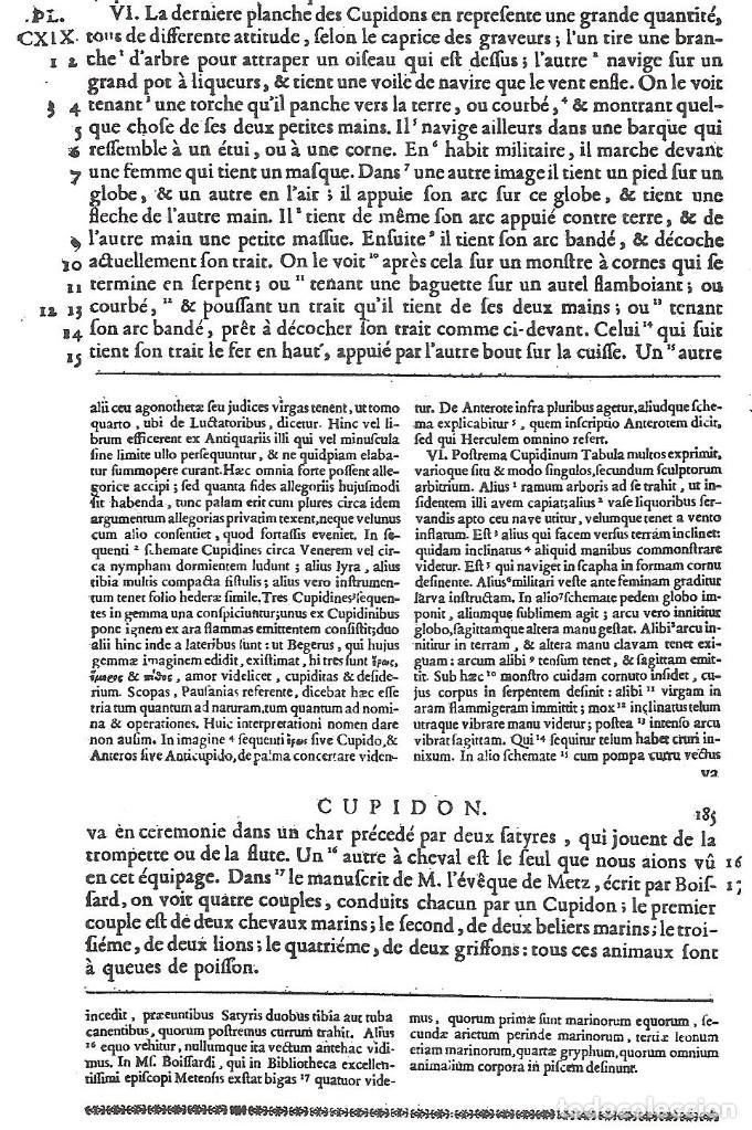 Arte: GRABADO SIGLO XVIII - CUPIDON - GORLAEUS - BOISSARD - PLANCHA 119 - OBRA FRANCESA DE 1722 - VER - Foto 9 - 205723407