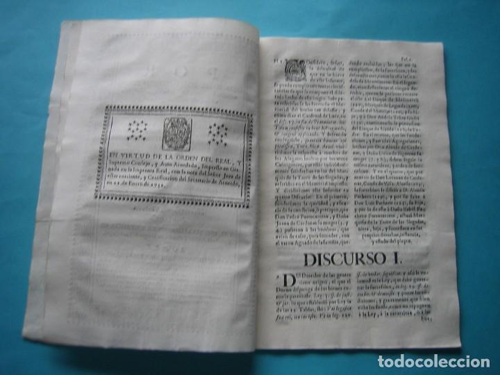 Arte: IMPRESO - PLEITO FAMILIA DE LOS PORTOCARRERO SOBRE MAYORAZGO PUEBLA MAESTRE 1752 CON GRABADO DE 1740 - Foto 8 - 205724286