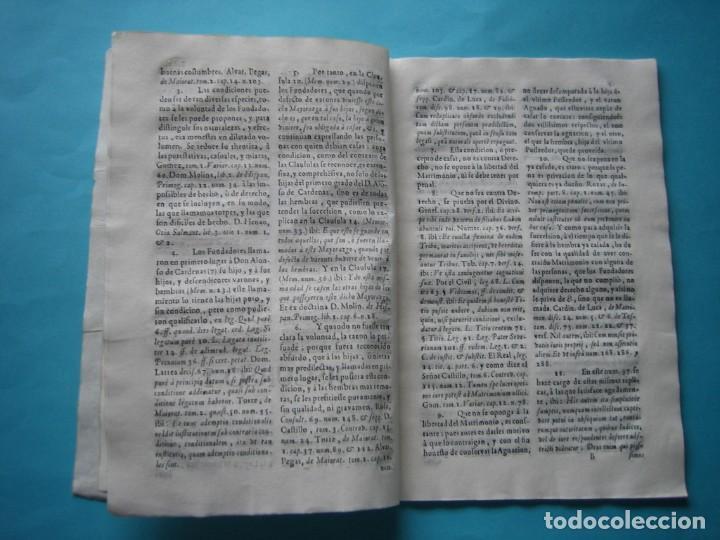 Arte: IMPRESO - PLEITO FAMILIA DE LOS PORTOCARRERO SOBRE MAYORAZGO PUEBLA MAESTRE 1752 CON GRABADO DE 1740 - Foto 10 - 205724286