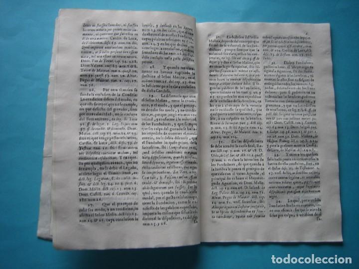Arte: IMPRESO - PLEITO FAMILIA DE LOS PORTOCARRERO SOBRE MAYORAZGO PUEBLA MAESTRE 1752 CON GRABADO DE 1740 - Foto 11 - 205724286