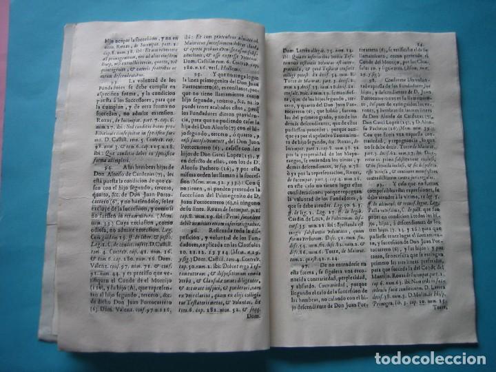 Arte: IMPRESO - PLEITO FAMILIA DE LOS PORTOCARRERO SOBRE MAYORAZGO PUEBLA MAESTRE 1752 CON GRABADO DE 1740 - Foto 12 - 205724286