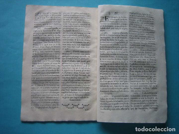 Arte: IMPRESO - PLEITO FAMILIA DE LOS PORTOCARRERO SOBRE MAYORAZGO PUEBLA MAESTRE 1752 CON GRABADO DE 1740 - Foto 14 - 205724286