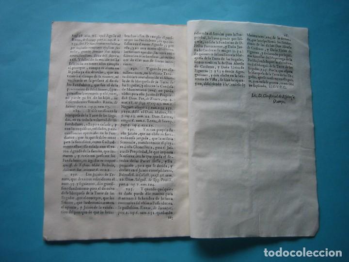 Arte: IMPRESO - PLEITO FAMILIA DE LOS PORTOCARRERO SOBRE MAYORAZGO PUEBLA MAESTRE 1752 CON GRABADO DE 1740 - Foto 15 - 205724286