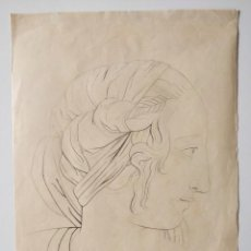 Arte: MAGISTRAL RETRATO CLÁSICO FIRMADO Y FECHADO HEINRICH MÜTHENS 1840, EXCELENTE CALIDAD. GRECIA, ROMA. Lote 205747181