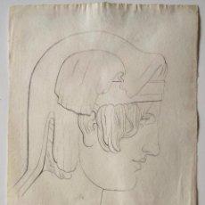 Arte: MAGISTRAL RETRATO CLÁSICO FIRMADO Y FECHADO HEINRICH MÜTHENS 1840, EXCELENTE CALIDAD. GRECIA, ROMA. Lote 205747341