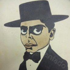Arte: FEDERICO GARCIA LORCA. INTERESANTE CARICATURA A TINTA. 14 X 11 CTMS. ANÓNIMO. AÑOS 1930S. Lote 205792968