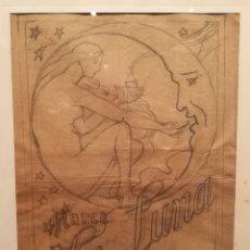Arte: BOCETO PARA CHOCOLATES AMATLLER POR JOSEP CLARÀ (1878-1958). Lote 205793872