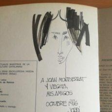 Arte: JORDI ALUMÀ, DIBUJO EN PÁGINA DE LIBRO 1976. Lote 205841997