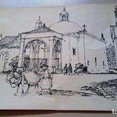 Arte: DIBUJO DE JULIO AMARO. Lote 206179651