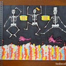 Arte: DIBUJOS, COLLAGES ORIGINALES JAIME ABAD. Lote 206217766