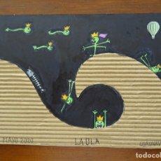 Arte: DIBUJOS, COLLAGES ORIGINALES, CORONAVIRUS, JAIME ABAD. Lote 206218040