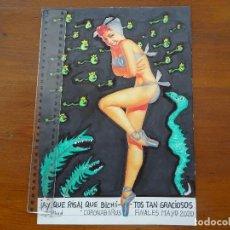 Arte: DIBUJOS, COLLAGES ORIGINALES, CORONAVIRUS, JAIME ABAD. Lote 206218503