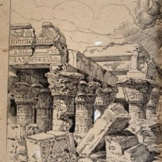 Arte: NICANOR VÁZQUEZ (1861-1930) RUINAS. Lote 206252125
