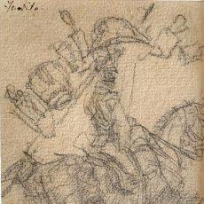 Arte: MARCELINO DE UNCETA (1835-1905) ESTUDIO PARA SOLDADO DE CABALLERÍA. Lote 206260488