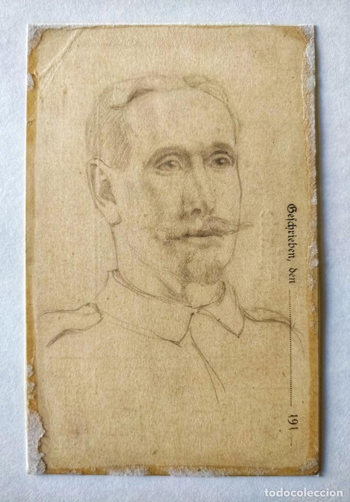 EXCELENTE RETRATO ORIGINAL A LAPIZ, GRAN CALIDAD (Arte - Dibujos - Modernos siglo XIX)