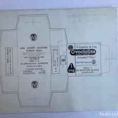 Arte: ORIGINAL PUBLICIDAD OVOCICLINA. CIBA S.A BARCELONA DE ELFI OSIANDER. Lote 206360008