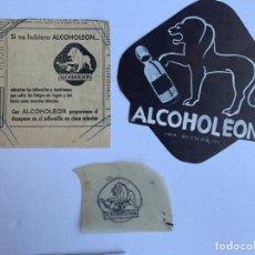 Arte: DOS ORIGINALES PUBLICIDAD ALCOHOLEON VALLECAS DE ELFI OSIANDER PUBLICADOS + ANUNCIO IMPRESO. Lote 206360691