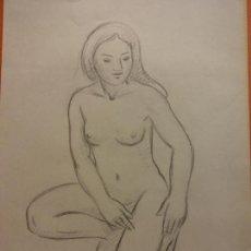 Arte: ORIGINAL. OBRA DE FRANCESC GASSÓ. MUJER. MEDIDAS 29*21 CM. Lote 206362877
