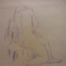 Arte: ORIGINAL. OBRA DE FRANCESC GASSÓ. MUJER. MEDIDAS 29*21 CM. Lote 206363007