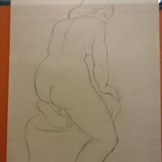 Arte: ORIGINAL. OBRA DE FRANCESC GASSÓ. MUJER. MEDIDAS 31*21 CM. Lote 206363407