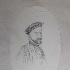 Arte: FELIPE II - DIBUJO DE 1860/70. Lote 206404460