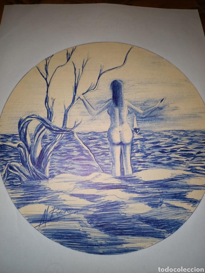 Arte: Bonito dibujo a boligrafo Manuel Bueno - Foto 2 - 206406451
