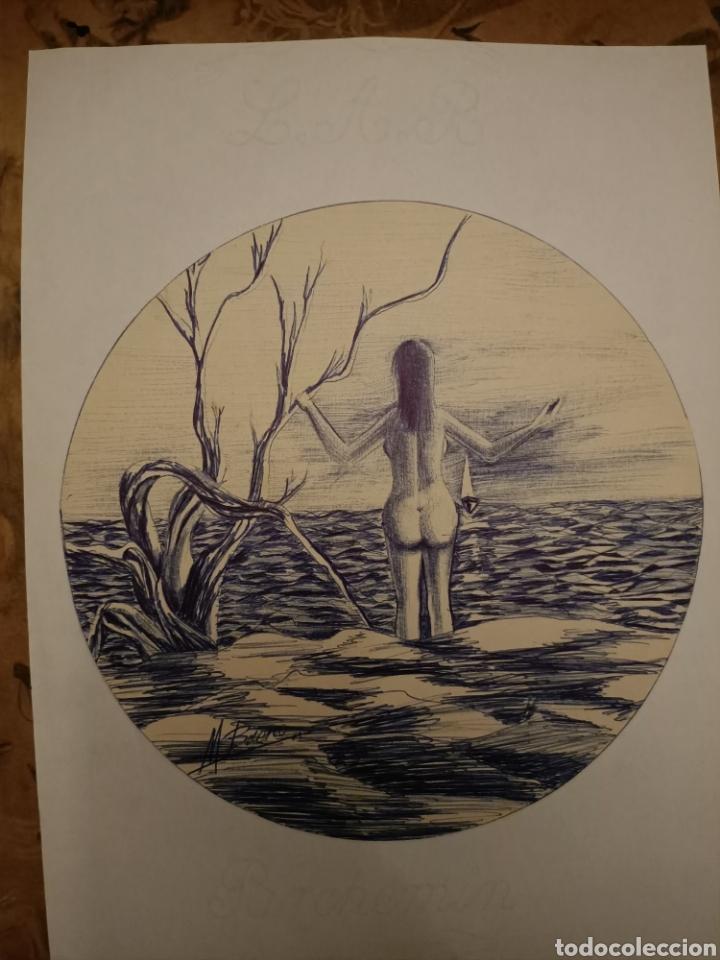 Arte: Bonito dibujo a boligrafo Manuel Bueno - Foto 3 - 206406451