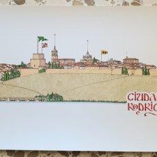 Arte: VISTA DE CIUDAD RODRIGO. DIBUJO DE CHENCHO PARDO VALDES. LAUS DEO 1999. Lote 206560730