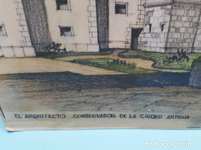 Arte: DIBUJO DE CIURANA ESTUDIO PARA PONER EN VALOR EL RECINTO ROMANO DE BARCELONA CIUDAD ANTIGUA - Foto 2 - 206567492